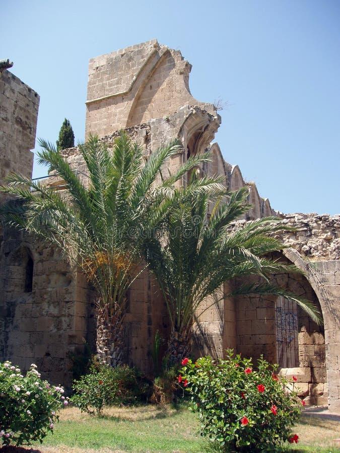 Kyrenia, Cyprus - Bellapais Abbey Ruins royalty free stock photo