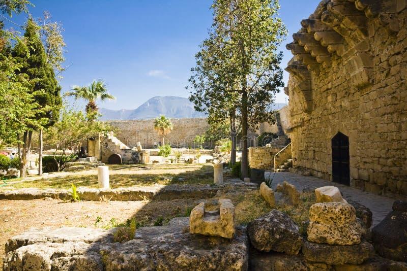 Kyrenia, Cyprus. The walls of the Venetian castle in Kyrenia, Cyprus royalty free stock image