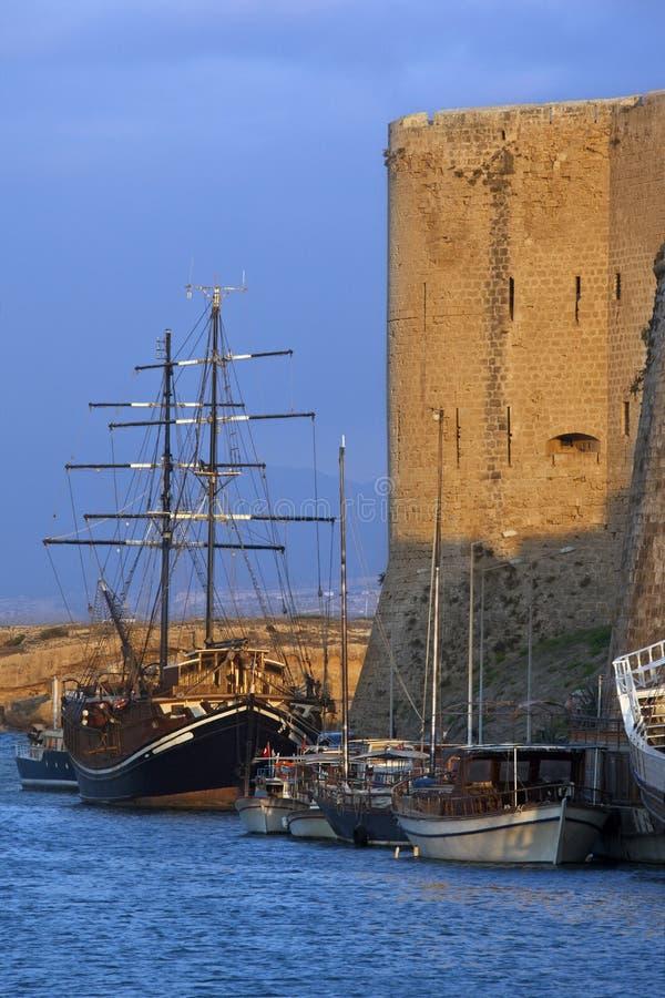 Kyrenia Harbor - Turkish Cyprus stock image