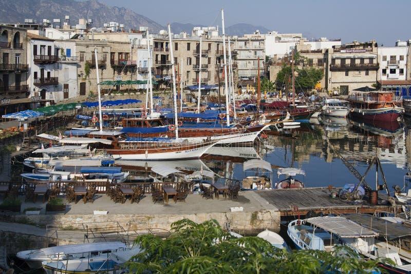 Kyrenia Harbor - Turkish Cyprus stock photos