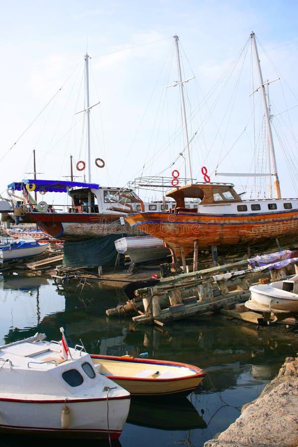 Kyrenia old port royalty free stock photo