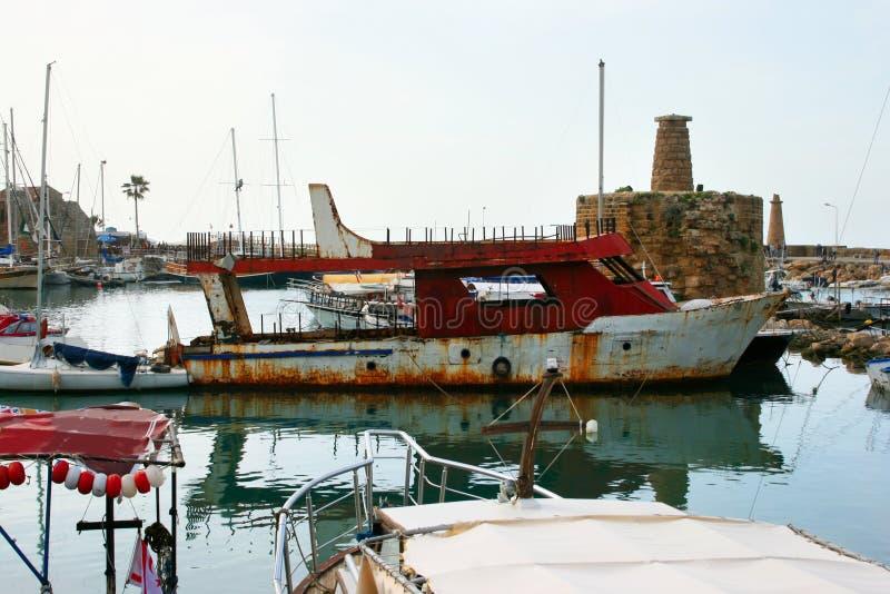 Kyrenia old port stock photos