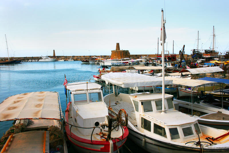 Kyrenia old port stock images