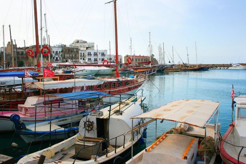 Kyrenia old port royalty free stock image