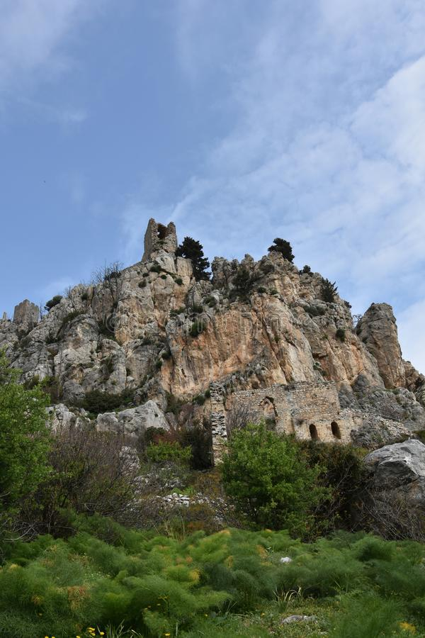 Kyrenia, ruiny St Hilarion fotografia royalty free