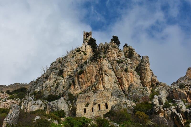 Kyrenia, ruiny St Hilarion obrazy royalty free
