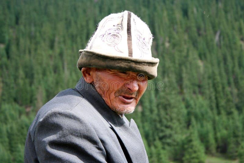 Kyrgyz horseman in Tien Shan mountains. Central tien shan region, Dzhuku valley stock photos