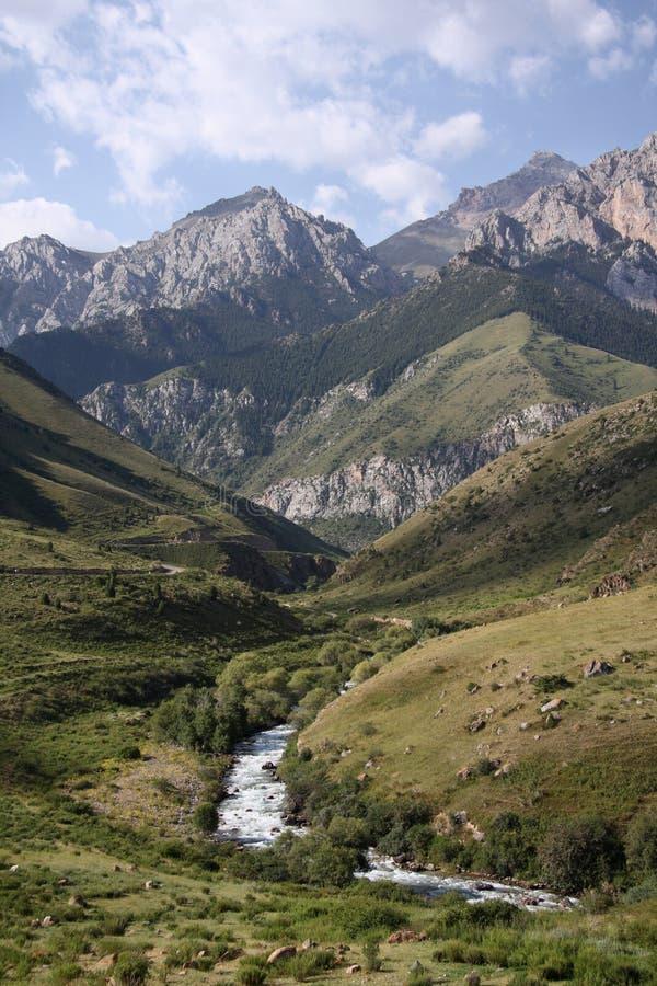 kyrgyzstan berg arkivbild
