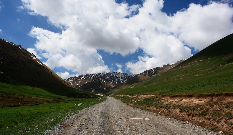 kyrgyzstan bergtrail royaltyfri fotografi