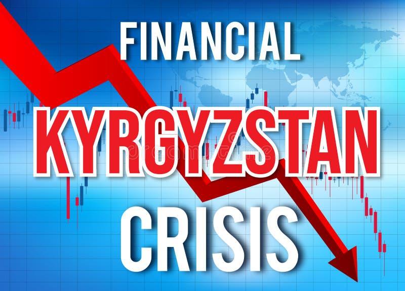 Kyrgyzstan Financial Crisis Economic Collapse Market Crash Global Meltdown. Illustration stock illustration