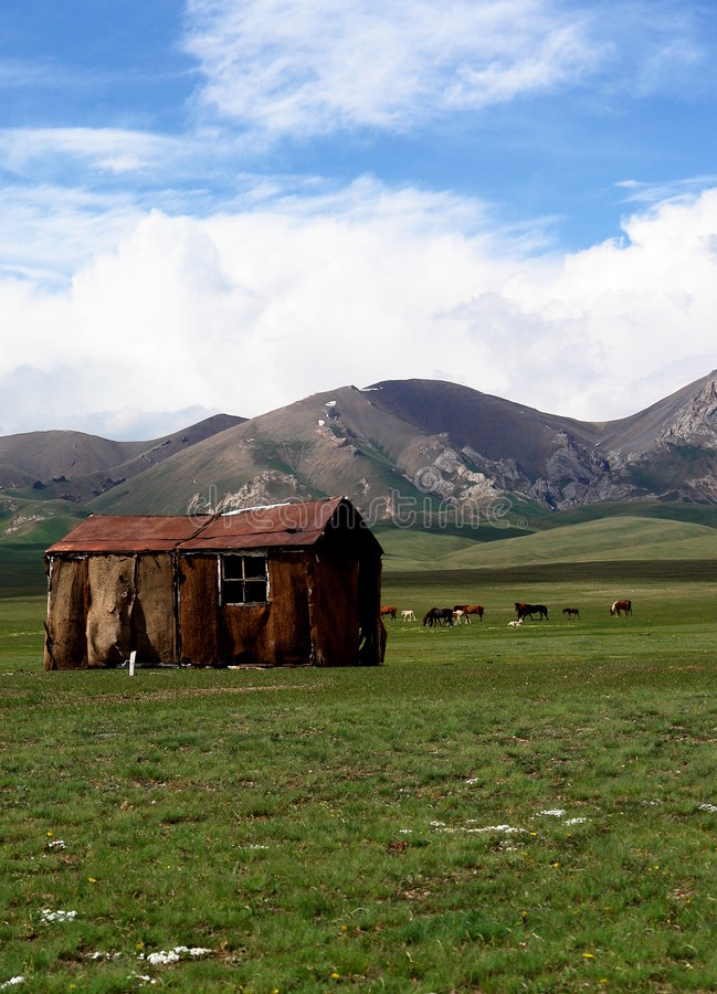 Kyrgyzstan landscape stock photos