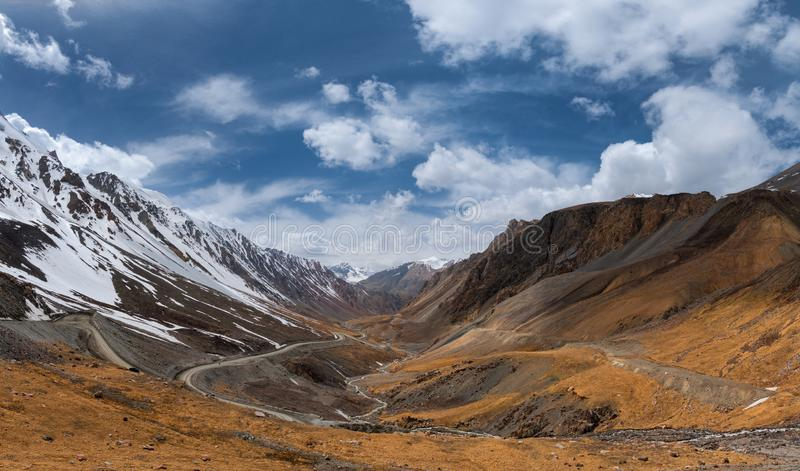 Kyrgyzstan, Southern Coast Of Issyk-Kul Lake, Famous Scenic Barskaun Gorge   Leopard Tears Or Pass Barskoon  In Tien-Shan Mounta stock photography
