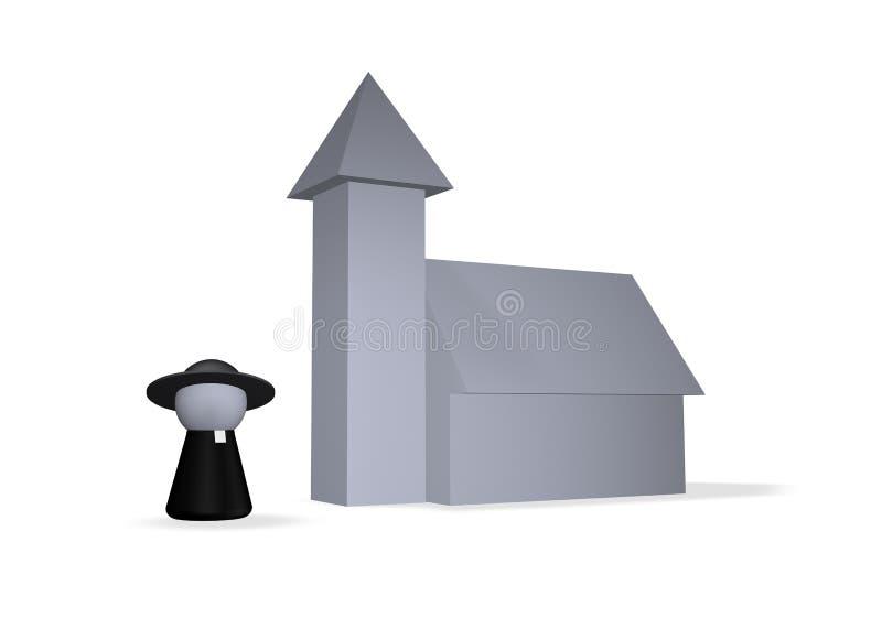 kyrka stock illustrationer