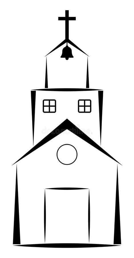 Kyrka vektor illustrationer