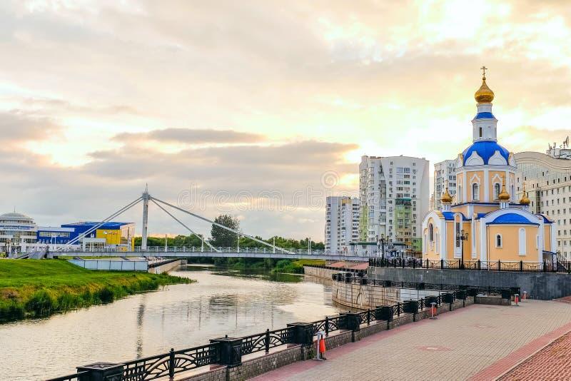 Kyrka av ärkeängeln Gabriel, Belgorod stad, Ryssland royaltyfri fotografi