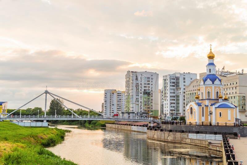 Kyrka av ärkeängeln Gabriel, Belgorod stad, Ryssland royaltyfria bilder