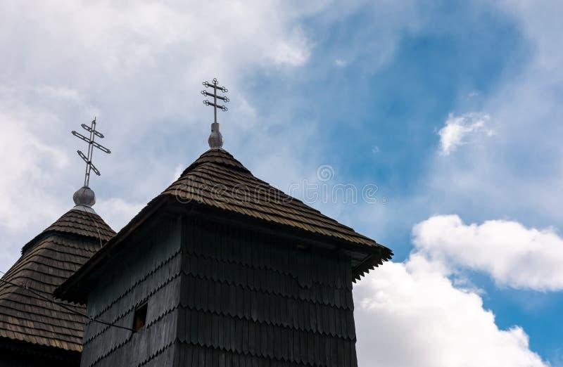 Kyrka av ärkeängeln Michael, Uzhok, Ukraina royaltyfria foton