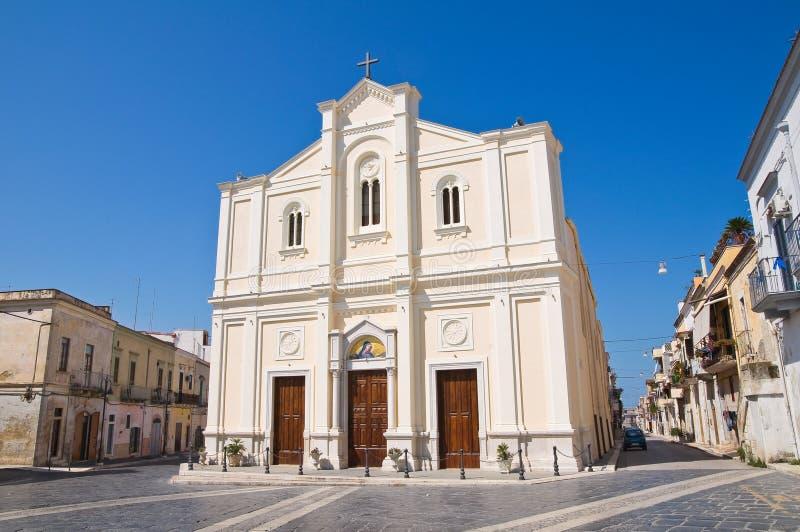 Kyrka av Addolorata. Cerignola. Puglia. Italien. arkivbilder