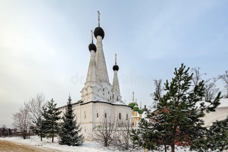 Kyrka av antagandet av den välsignade oskulden, Uglich, Ryssland royaltyfria bilder