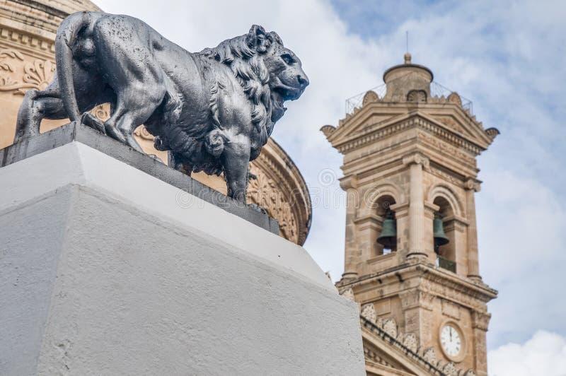 Kyrka som är rotunda av Mosta, Malta arkivfoton