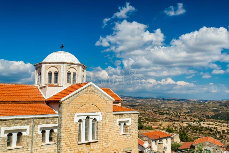 Kyrka av Ayia marina på Dora Village Limassol område, Cypern royaltyfri foto