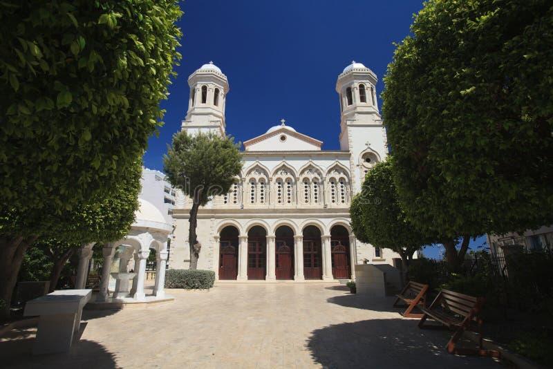 Kyrka av Ayia Napa i Limassol, Cypern royaltyfria foton