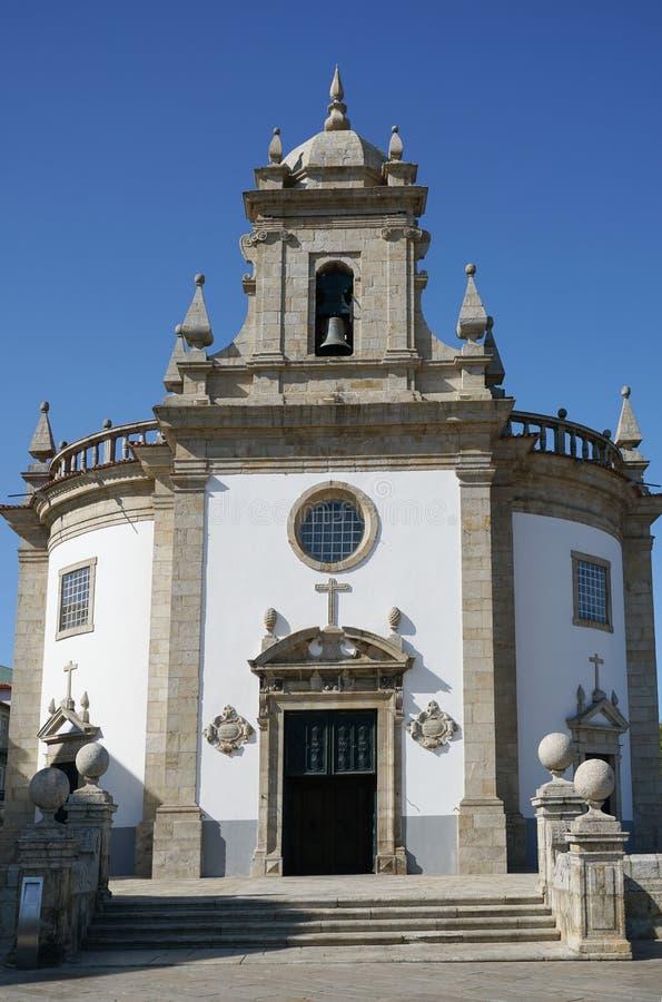 Kyrka av Bom Jesus da Cruz, Barcelos, Portugal arkivfoton