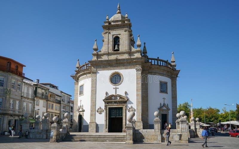 Kyrka av Bom Jesus da Cruz, Barcelos, Portugal royaltyfria bilder