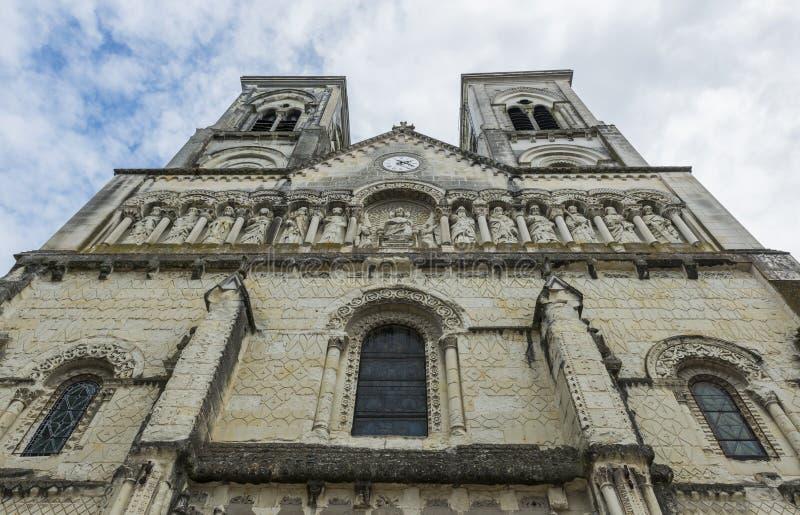 Kyrka av Chatellerault royaltyfri foto