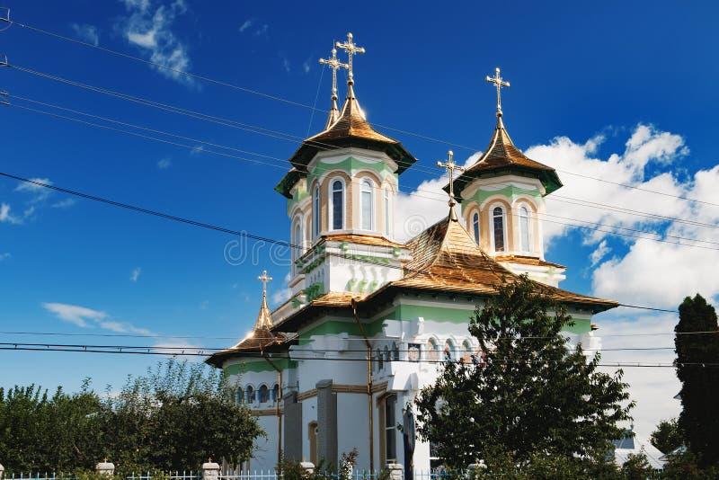 Kyrka av de heliga fäderna i Boroaia, Rumänien arkivbild