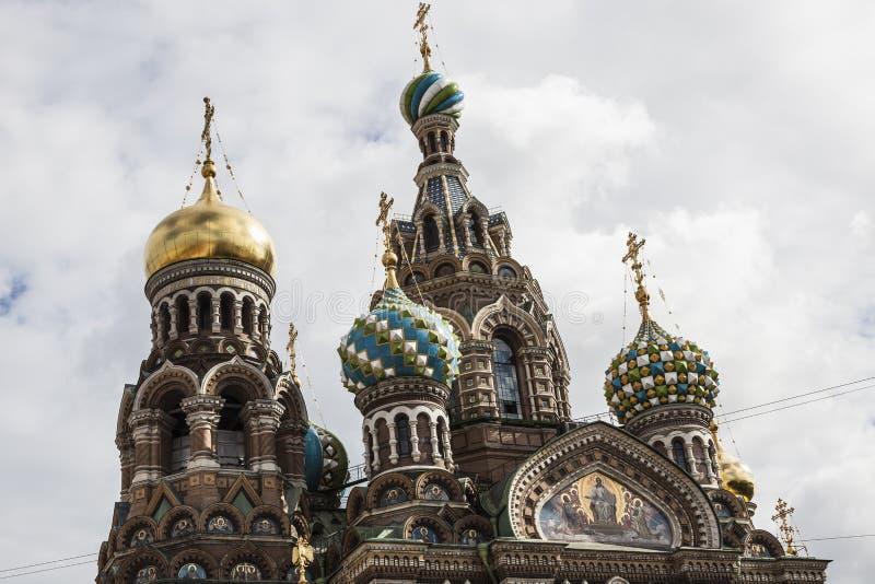 Kyrka av de Resurection´s kupolerna royaltyfri foto