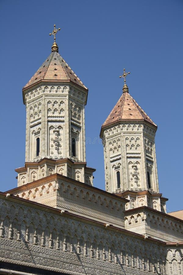 Kyrka av de tre hierarchsna i Iasi (Rumänien) arkivbilder
