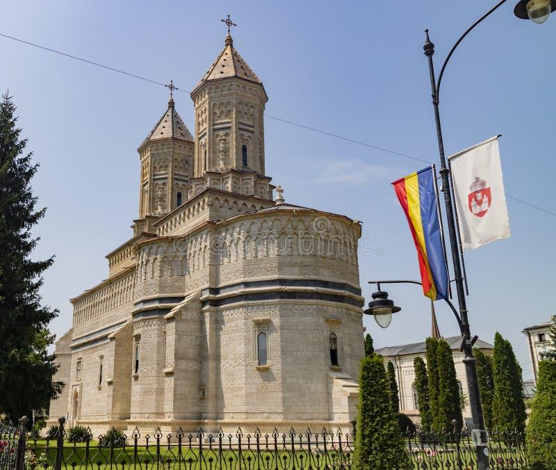 Kyrka av de tre hierarchsna, Iasi, Rumänien royaltyfri foto