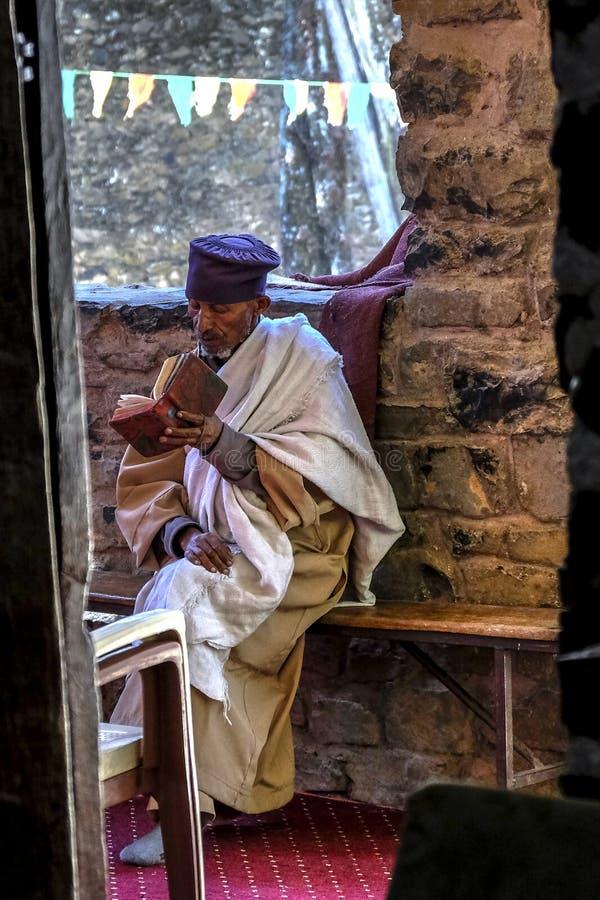 Kyrka av Debra Berhan Selassie i Gondar, Etiopien arkivbilder