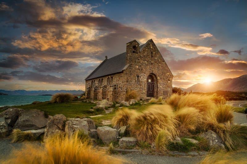 Kyrka av den bra herden, Nya Zeeland fotografering för bildbyråer