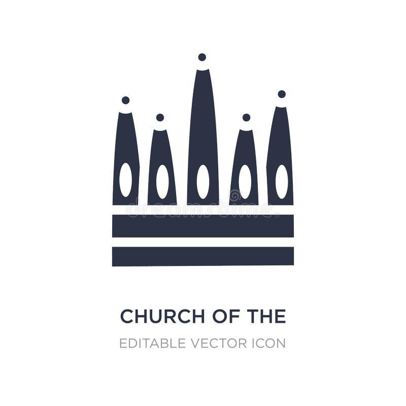 kyrka av den heliga familjsymbolen på vit bakgrund Enkel beståndsdelillustration från monumentbegrepp royaltyfri illustrationer