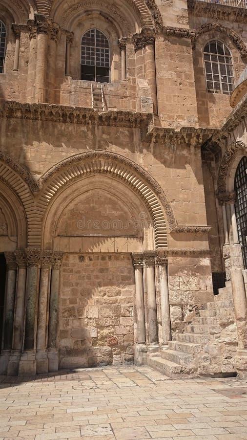 Kyrka av den heliga griften i den gamla staden av Jerusalem, Israel royaltyfria foton