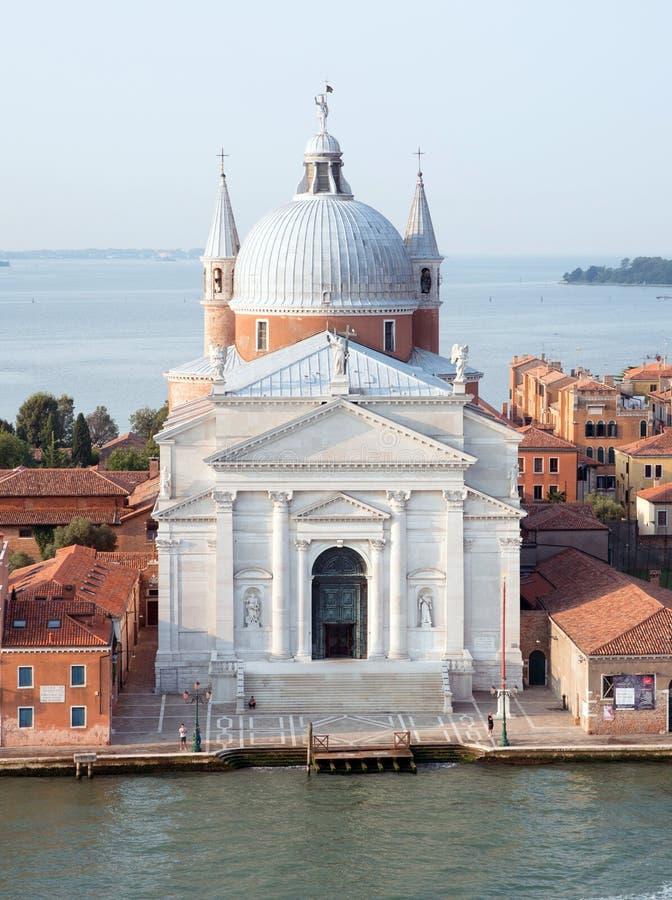 Kyrka av den mest heliga Redeemen, Venedig royaltyfria foton
