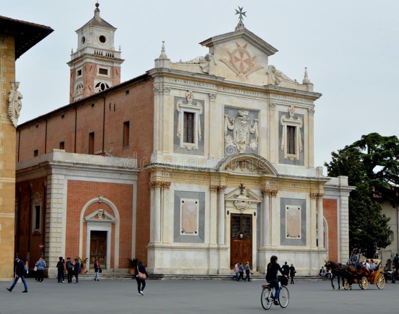 Kyrka av den Santo Stefano deien Cavalieri royaltyfria foton
