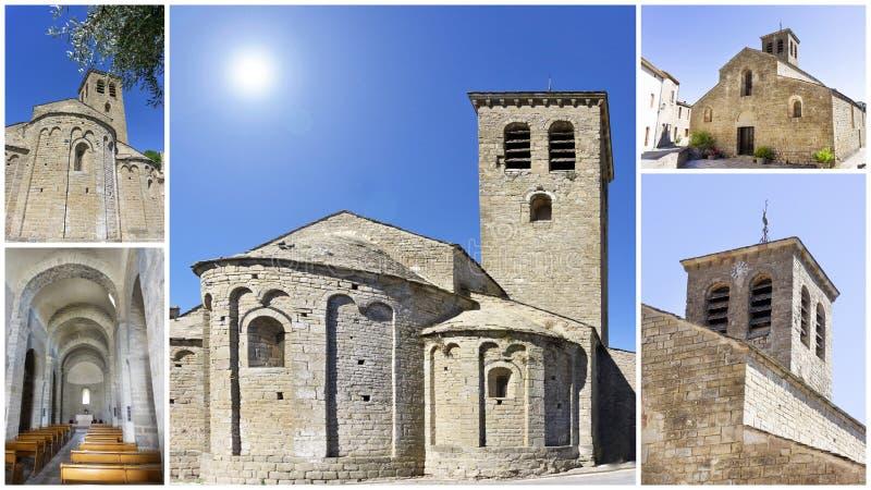 Kyrka av escales, Frankrike arkivbilder