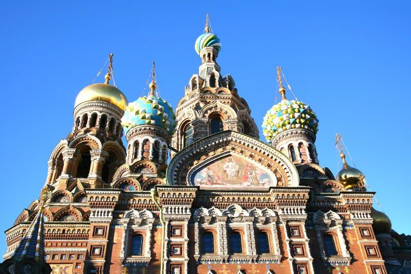 Kyrka av frälsaren på det spillda blodet i St Petersburg, Ryssland royaltyfri fotografi