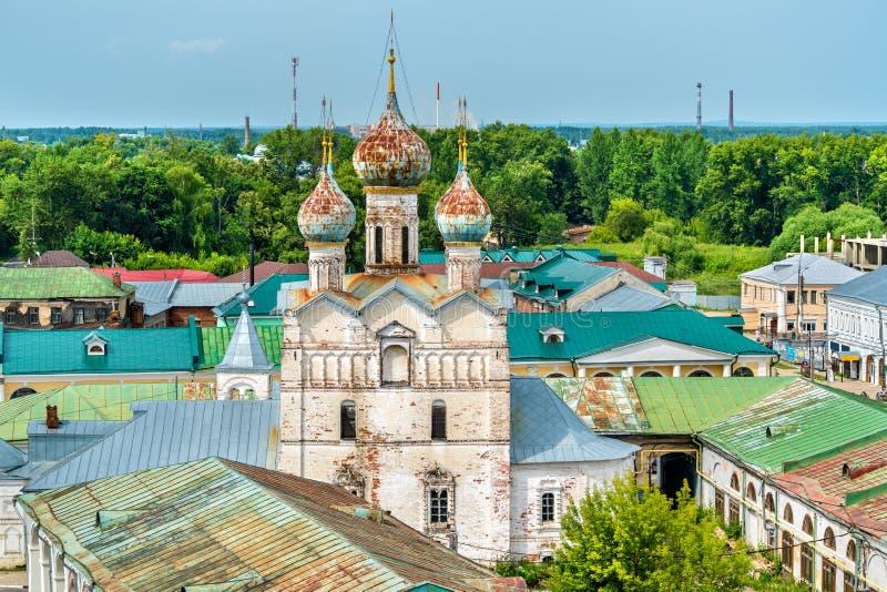 Kyrka av frälsaren på marknadsfyrkant i Rostov Veliky, den guld- cirkeln av Ryssland royaltyfria bilder