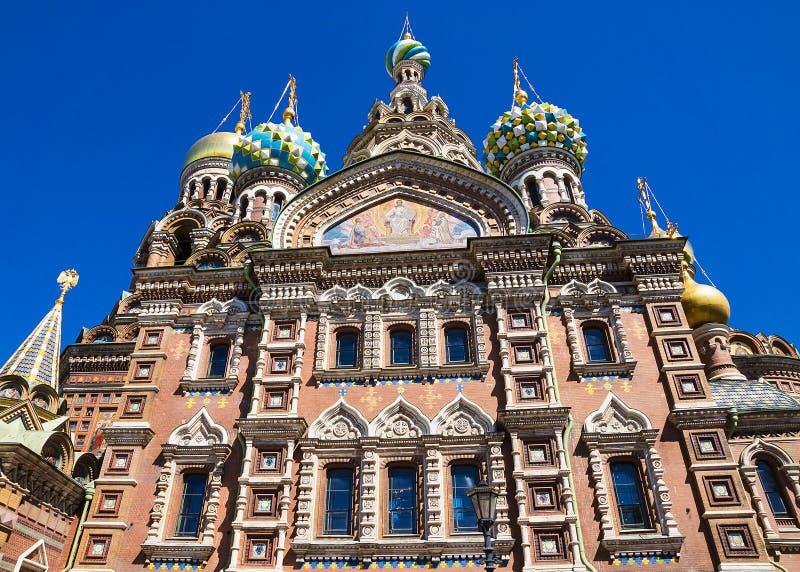 Kyrka av frälsaren på spillt blod i St Petersburg, Ryssland royaltyfri bild