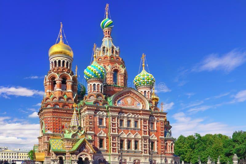 Kyrka av frälsaren på spillt blod, Petersburg royaltyfri fotografi