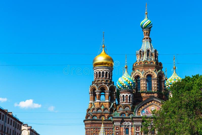 Kyrka av frälsaren på spillt blod, St Petersburg, Ryssland royaltyfria foton