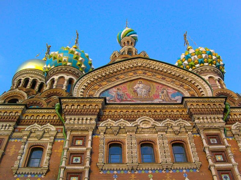 Kyrka av frälsaren på spillt blod, St Petersburg, Ryssland arkivbilder