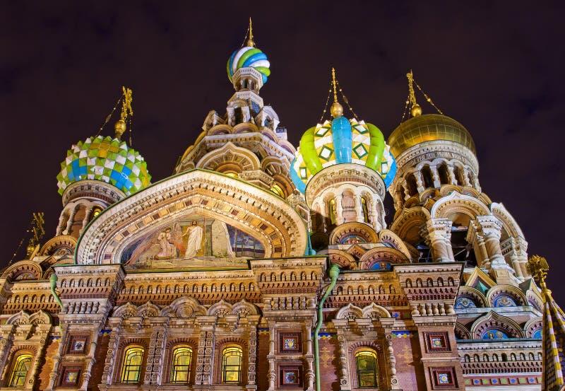 Kyrka av frälsaren på spillt blod, St Petersburg, Ryssland royaltyfri bild