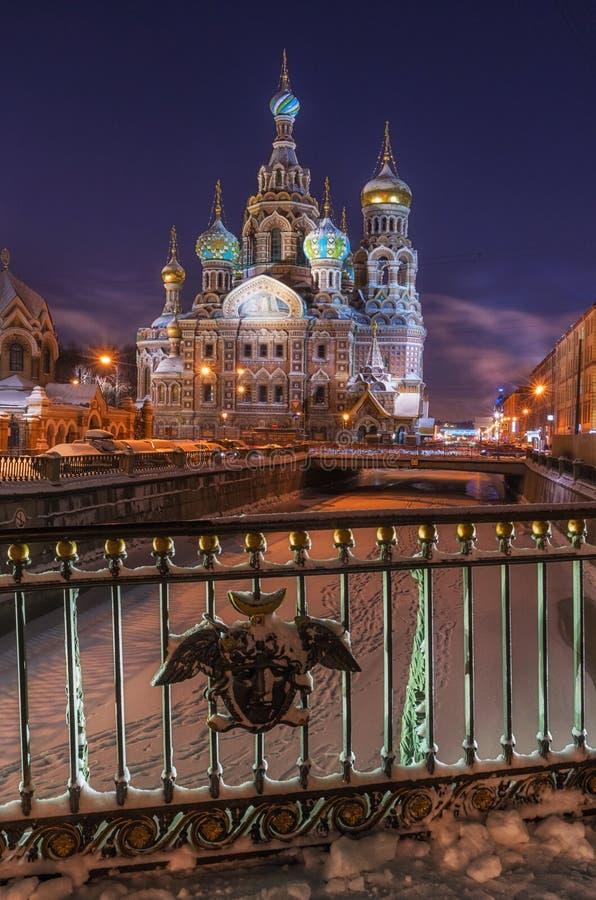 Kyrka av frälsaren på spillt blod, St Petersburg, Ryssland arkivfoton