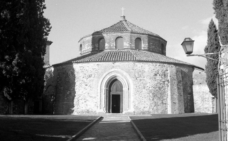 Kyrka av helgonet Angelo i Perugia i Umbria arkivbilder