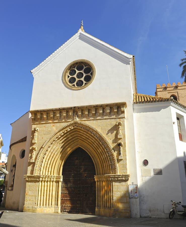 Kyrka av helgonet Catherine i Seville, Andalusia, Spanien fotografering för bildbyråer